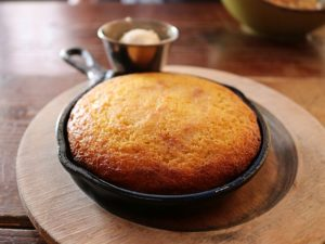Tasty corn bread large enough to share
