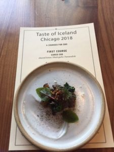 Each course of the Taste of Iceland menu offers an interesting but delicious mix of flavors.