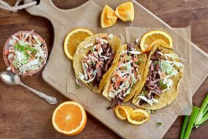 BBQ skirt steak taco