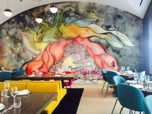 Marisol dishes match their artistic surroundings