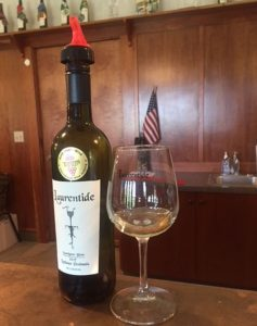 Find award winning wines on both peninsulas such as this good sauvignon blanc at Laurentide Winery on the Leelanau Peninsula ([photos by Jodie Jacobs)