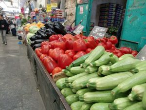 Jerusalem's Mahane Yehuda Market is a prime example of where to shop for Mediterranean meal ingredients. (Jodie Jacobs photo)