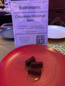 Bistonomic's famed chocolate Hazelnut bar at First Bites Bash (J Jacobs photo)