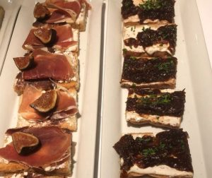 Signature Crostini at Fig and Olive, chicago. (J Jacobs photo)