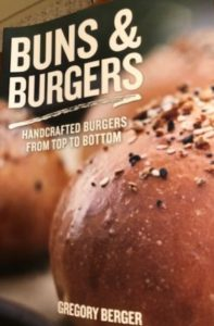 Buns & Burgers cookbook by Gregory Berger. (Photo of cookbook by J Jacobs)