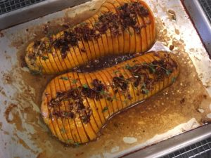 Hassleback butternut squash. (Phot courtesy of Gale Gand)